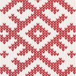 Knitted pattern — Stockvektor