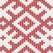 Knitted pattern — Stockvectorbeeld