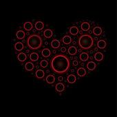 Cœur numérique. illustration vectorielle — Vecteur