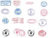 Carimbos postais em branco — Vetorial Stock
