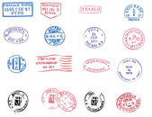 Sellos postales en blanco — Vector de stock