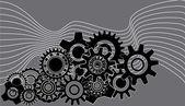 Gearwheels background — Stock Vector