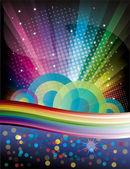 Magic Rainbow background — Stock Vector