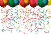 Bunte ballons und konfetti — Stockvektor
