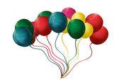 Ilustracja wektorowa kolorowe balony — Wektor stockowy