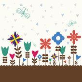 Retro flower — Vecteur
