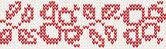 Flower knitted pattern — Stock Vector