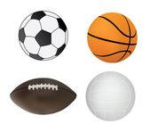 体育球的集合 — 图库矢量图片