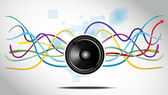 Abstract Background with speaker — Stock vektor