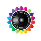 Audio speaker icon — Vector de stock