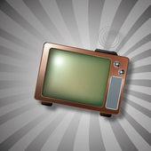 Retro TV — Stock Vector
