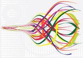 波浪曲线彩色线条矢量插画 — 图库矢量图片