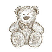 Teddy bear — Vector de stock