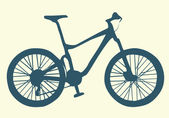 Bicycle, vector illustration — Stock Vector