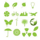 Set van ecologie pictogrammen. — Stockvector
