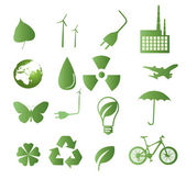 Vector-set of 16 environmental icons — Stock Vector