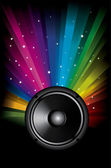 Colorful Rainbow Music Background for Disco flyers — Stock Vector