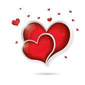 Illustrazione di cuore san valentino — Vettoriale Stock