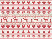 Knitted christmas pattern — Vector de stock