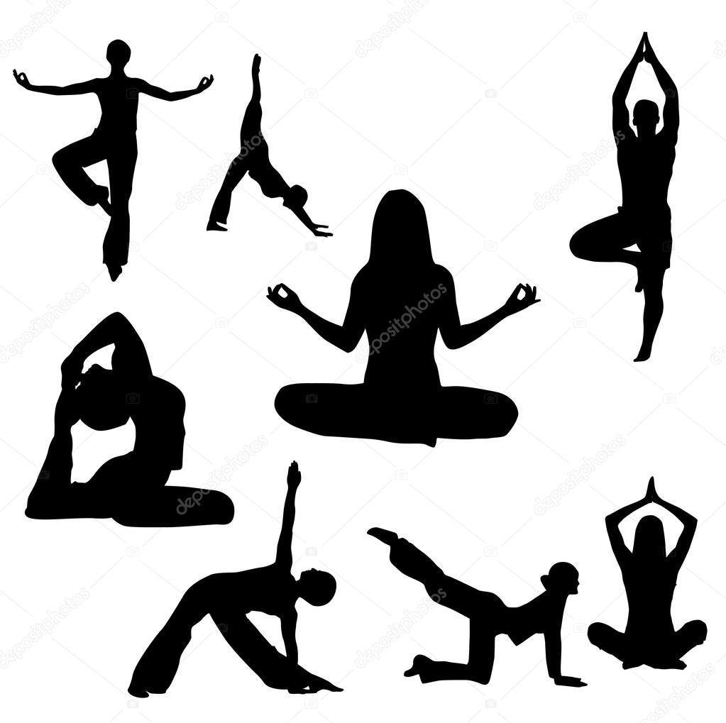 Yoga vector illustration — Stock Vector © booblgum #18092273