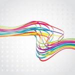 Abstract rainbow wave line — Stock Vector