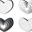 Set of hearts — Stock Vector