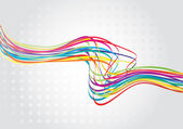 Abstract rainbow wave line — Vector de stock