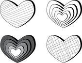 Conjunto de corações — Vetorial Stock