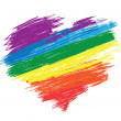 Royalty-Free Stock Vector Image: Rainbow heart