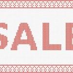 Christmas sale design template — Stock Vector
