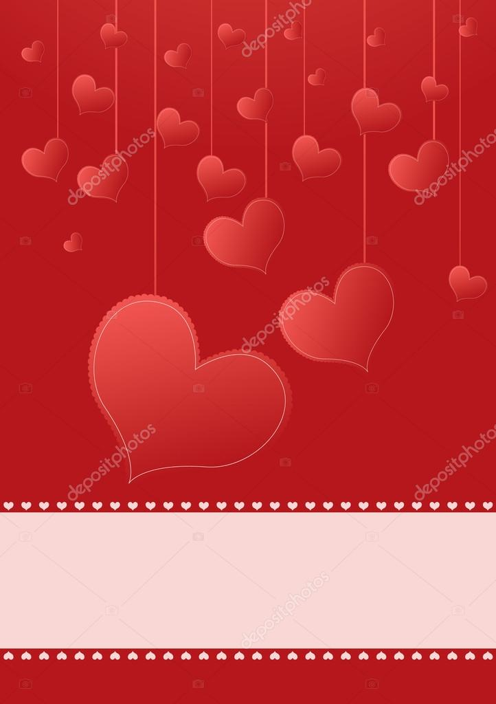 Background for valentines day with hearts and place for text  Stock Vector #19520261