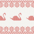 Knitted pattern with swan — Stock Vector #26859105
