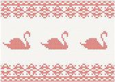 Pletený vzor s labutí — Stock vektor