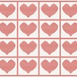 Vector pattern with hearts — Stock Vector