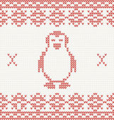 Knitted penguin — 图库矢量图片