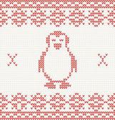 针织的企鹅 — 图库矢量图片