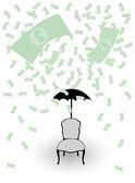 Geld regen — Stockvector