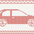 Knitted car — Stock Vector