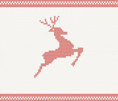 Christmas and Winter knitted pattern with deer — Stok Vektör