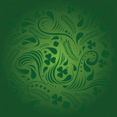 St Patrick's day background in green colors — Stock Vector