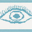 Knitted eye — Vector de stock