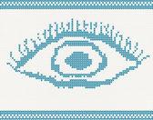 Knitted eye — Stock Vector