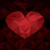 Red heart — Stockvector