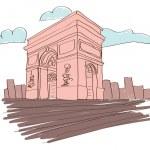 Arc de triomphe - Paris - France — Stock Vector #42228779