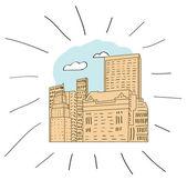Nueva york - ilustración dibujados a mano — Vector de stock