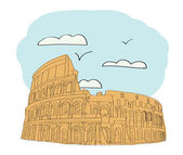 Great Colosseum, Rome, Italy — Stock Vector