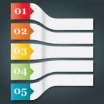 Перспектива набор из 5 пронумерованных бумаги стиль заголовков — Cтоковый вектор #42786703