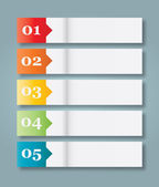 Set of 5 Numbered Paper Style Headers — Vector de stock