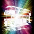 London bus on rainbow background — Stock Vector #43901931