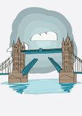 Tower Bridge of London — Stock Vector